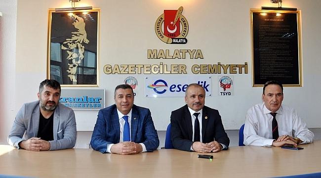 Özcan'dan Gazeteciler Cemiyetine Ziyaret