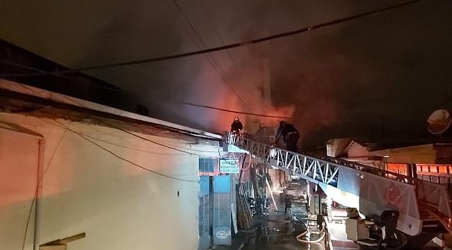 Küçük Sanayi Sitesinde Yangın