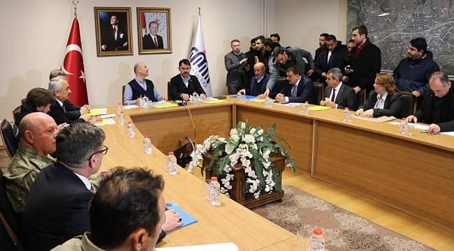 İçişleri Bakanı Soylu ve Çevre Şehircilik Bakanı Kurum Malatya'da