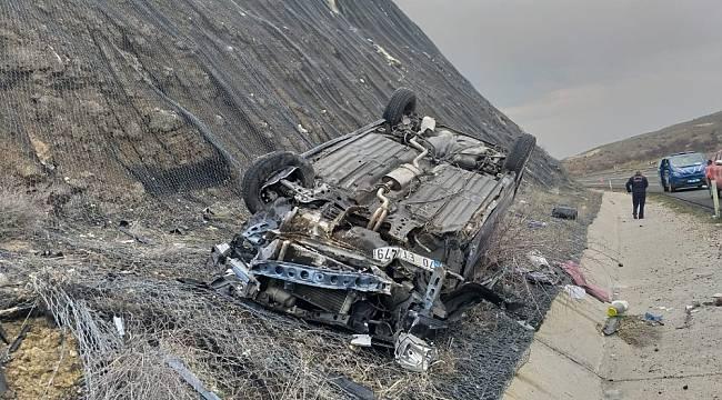 Akçadağ'da Otomobil Takla Attı: 3 Yaralı
