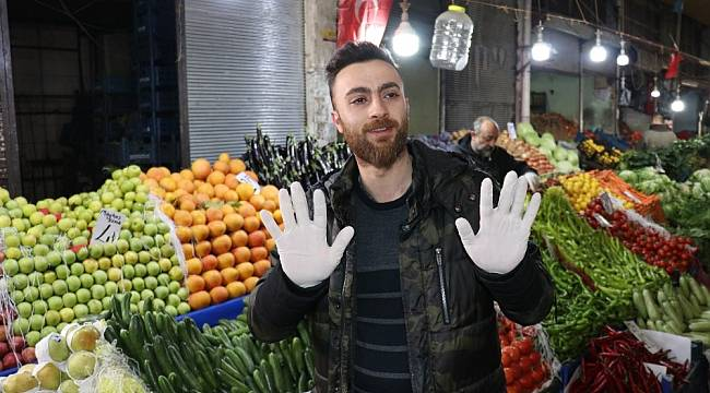 Sebze Meyve Pazarı'nda Hijyene Önem Veriliyor