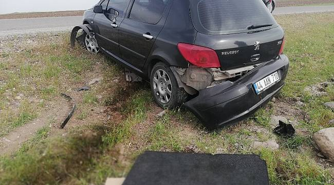 Arguvan'da Otomobil Şarampole Devrildi