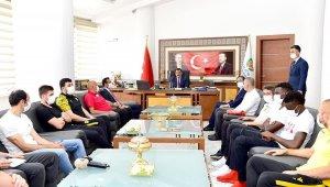 YMS'den Başkan Gürkan'a Teşekkür Ziyareti