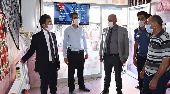 Doğanşehir'de Korona Virüs Denetimi Yapıldı