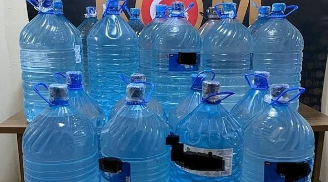447 litre sahte içki ele geçirildi