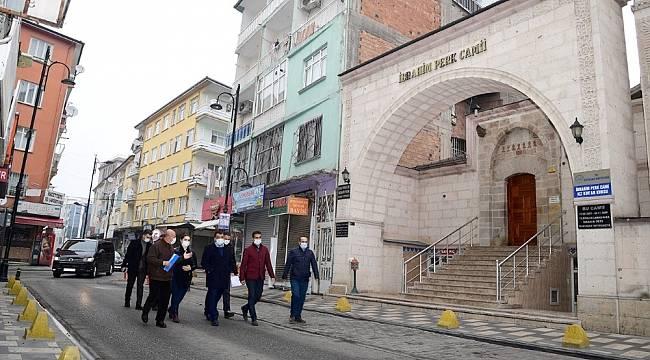 Başkan Gürkan, Akpınar'da incelemelerde bulundu