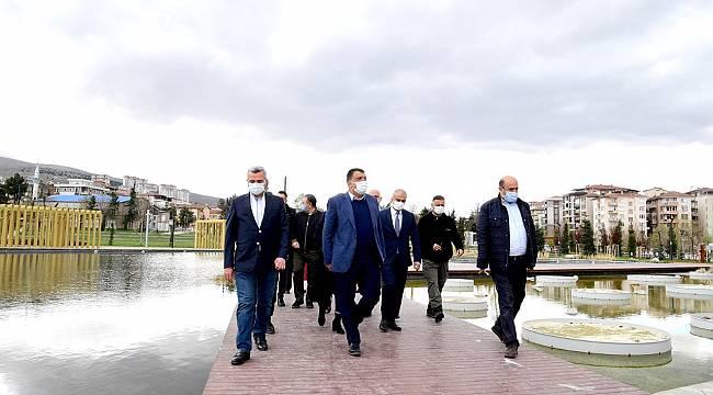 Gürkan, Millet Bahçesi'ni Malatya Büyükşehir Belediyesi olarak devrini aldık