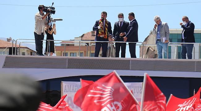 İmamoğlu; Malatyaspor'un ve Malatya'nın yanındayım